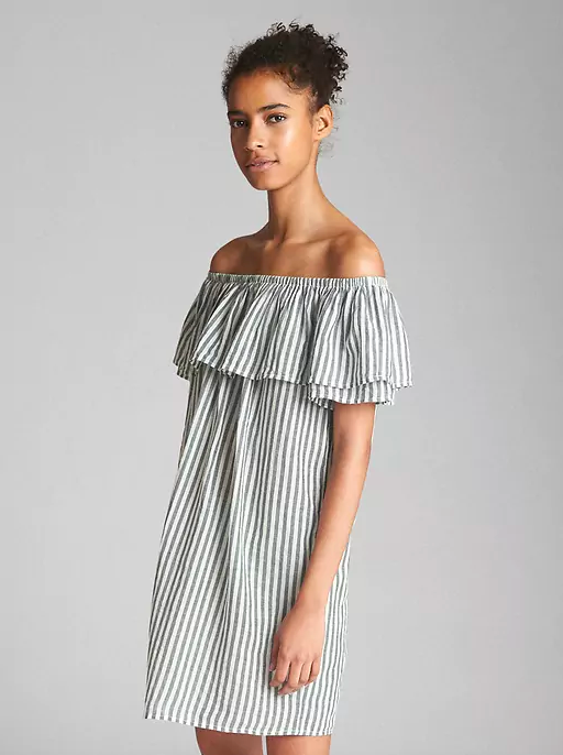 Off-Shoulder Ruffle Cover-Up