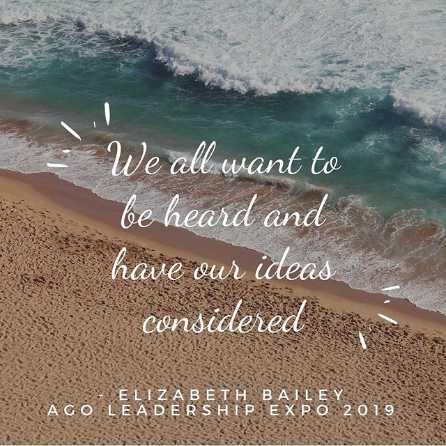 Some truth from 2b Communications... the company that is helping the AGO craft our strategic plan! #2bcommunications #agoexpo2019
