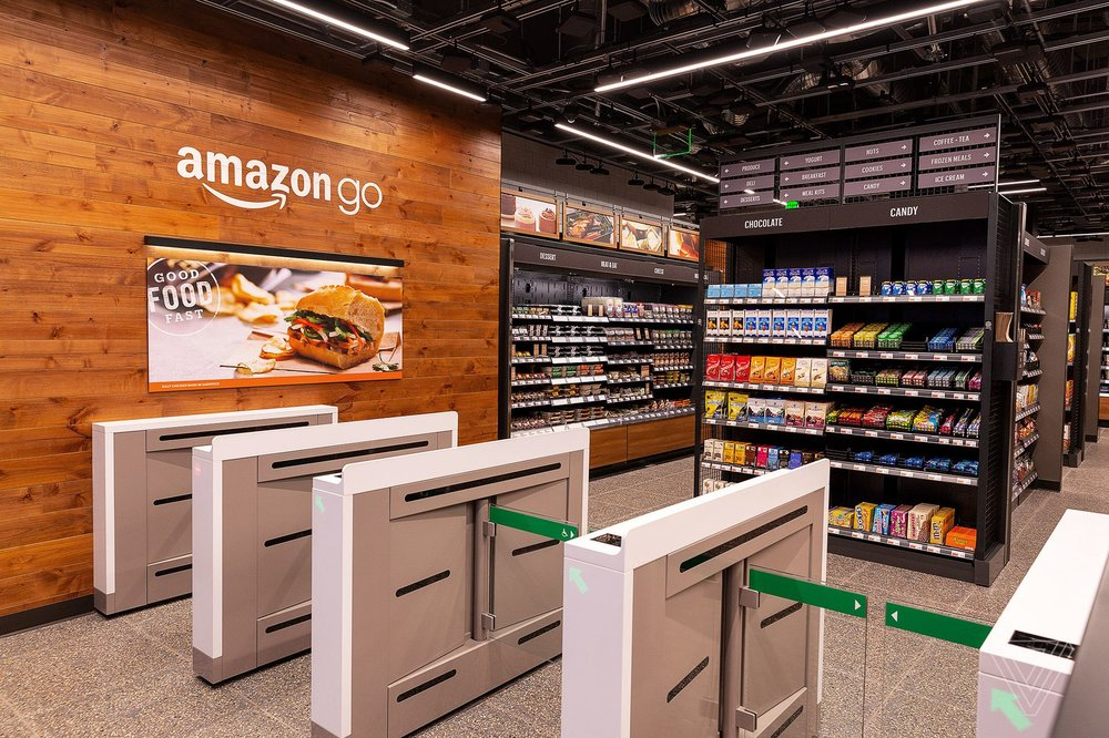 Amazon's new stores encourage customers to 'grab and go'. Photo credit Nick Statt/The Verge