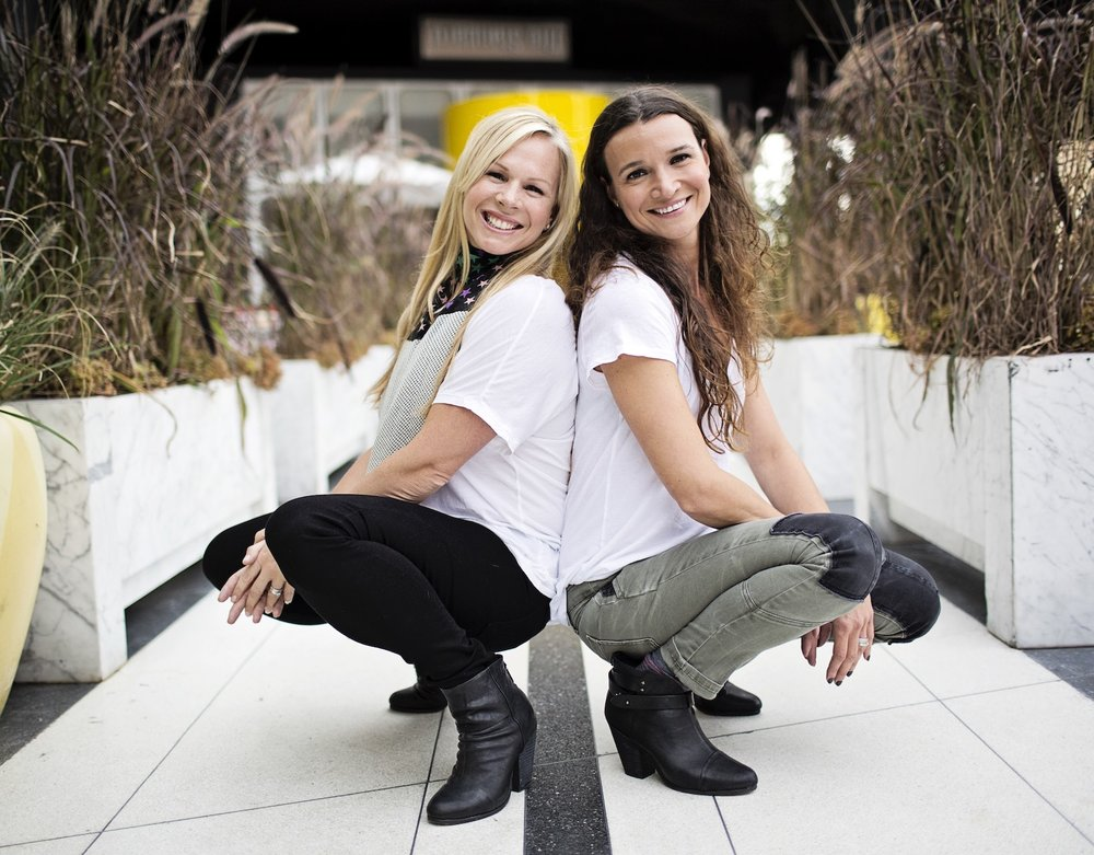 Marie-Michelle Gaudreau & Julie Harvey.  Founders, MinouKids.com