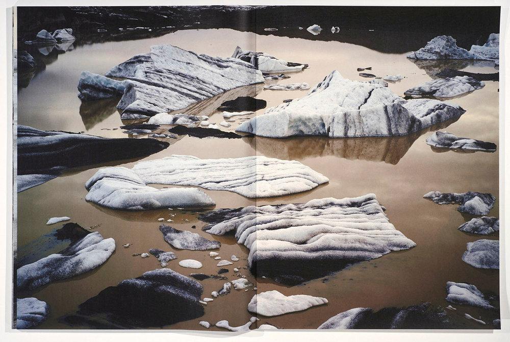 Fissure  artist book page spread