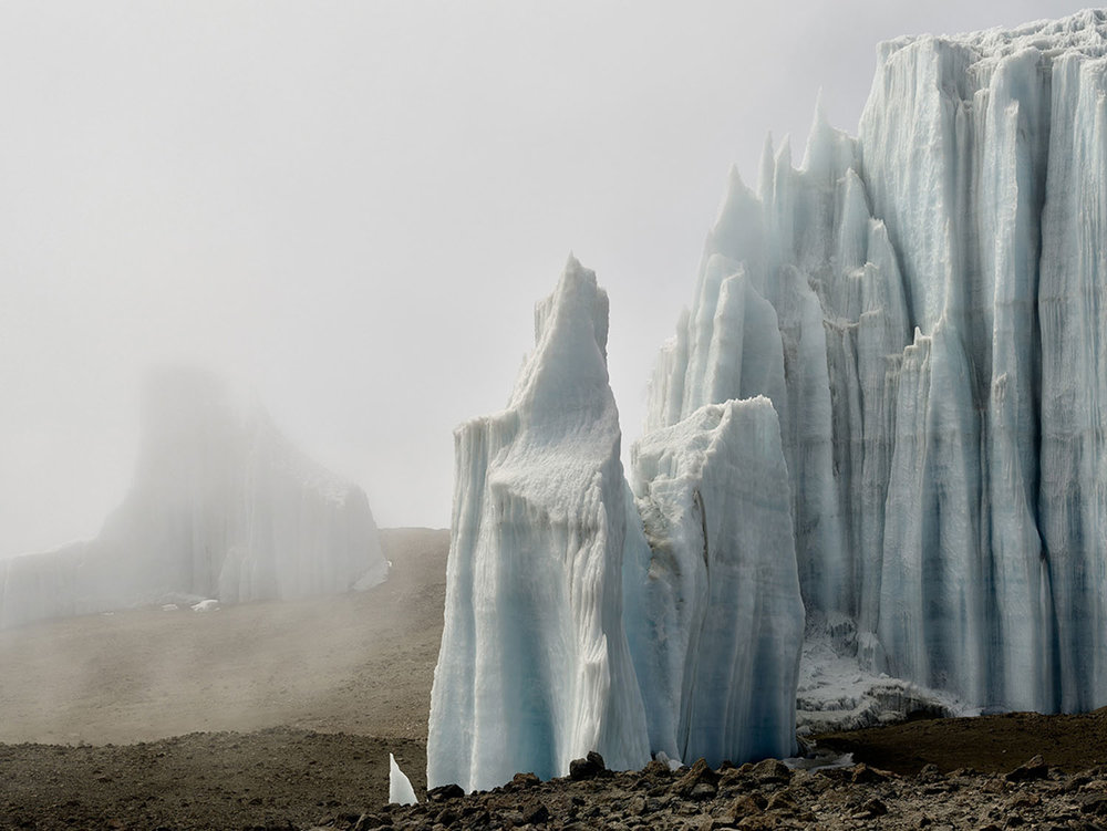 "Eastern Icefield, Kilimanjaro August 8th, 2016. 38""x50"""