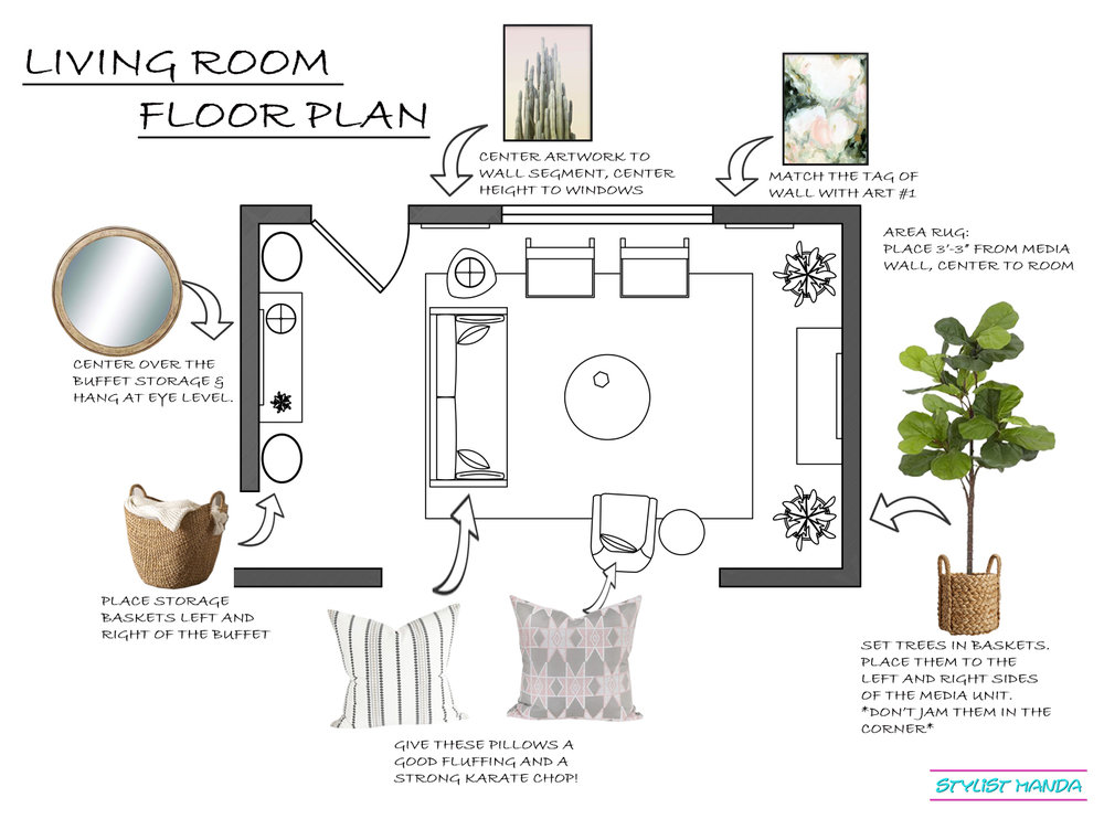 Living Room Floor Plan Example. Click through to get to recent projects