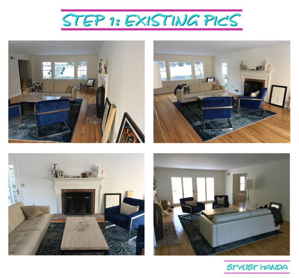 step 1 - existing pics