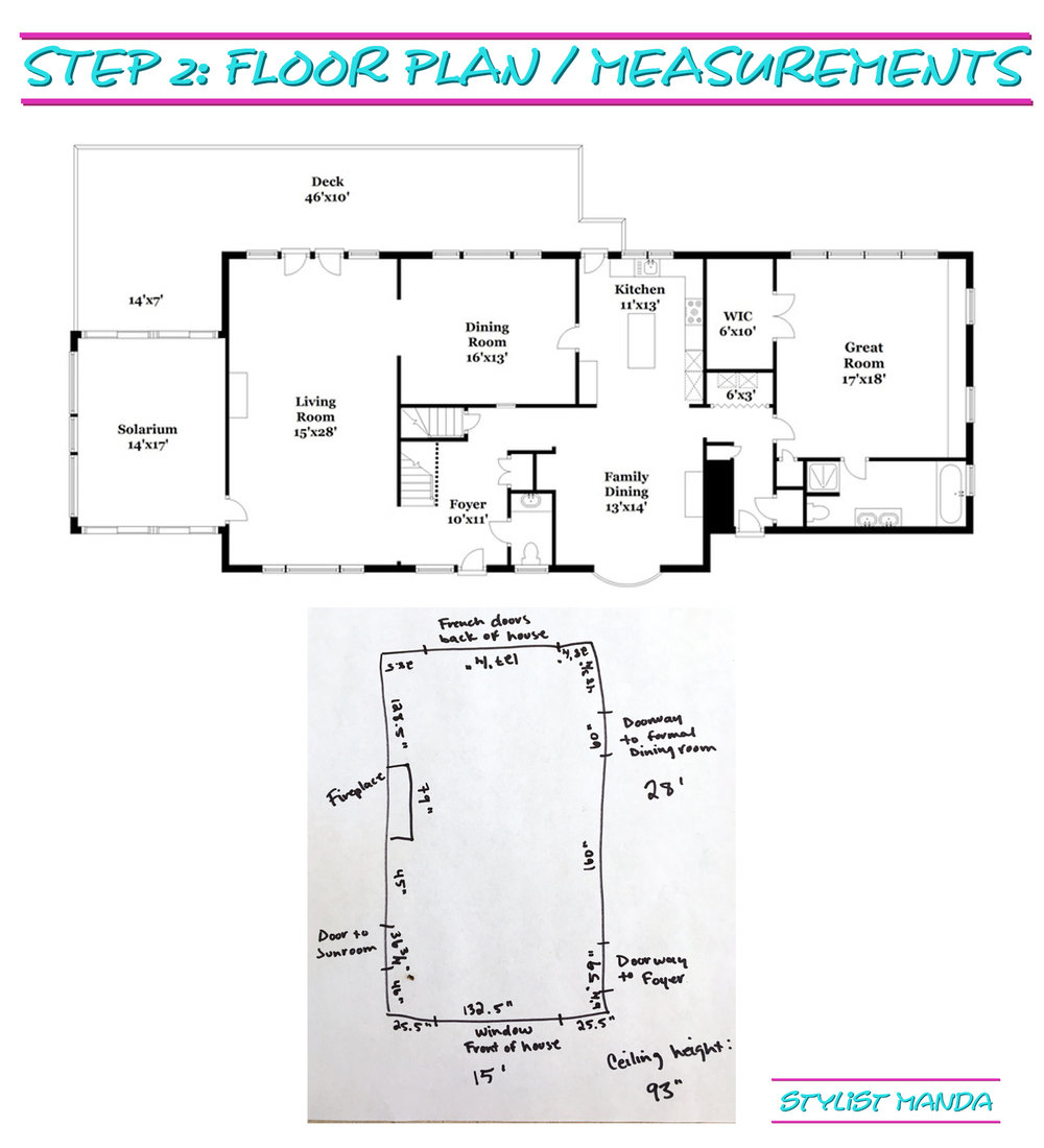 step 2 - plan and measurements