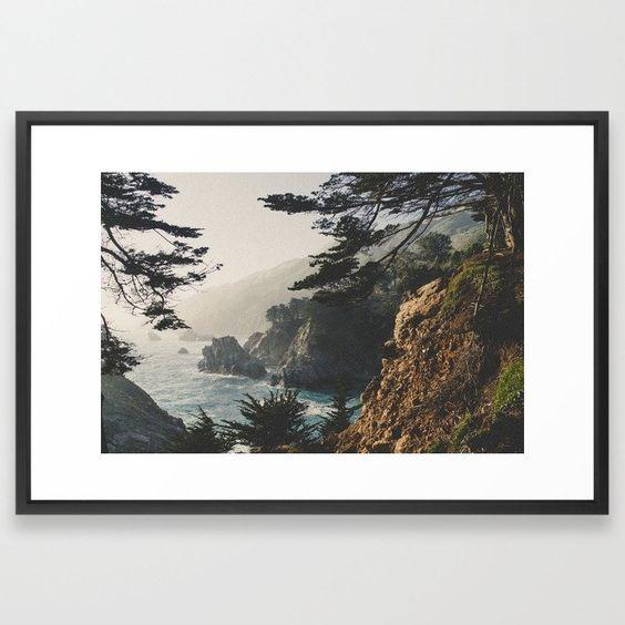 Art Over Bed, Framed Big Sur