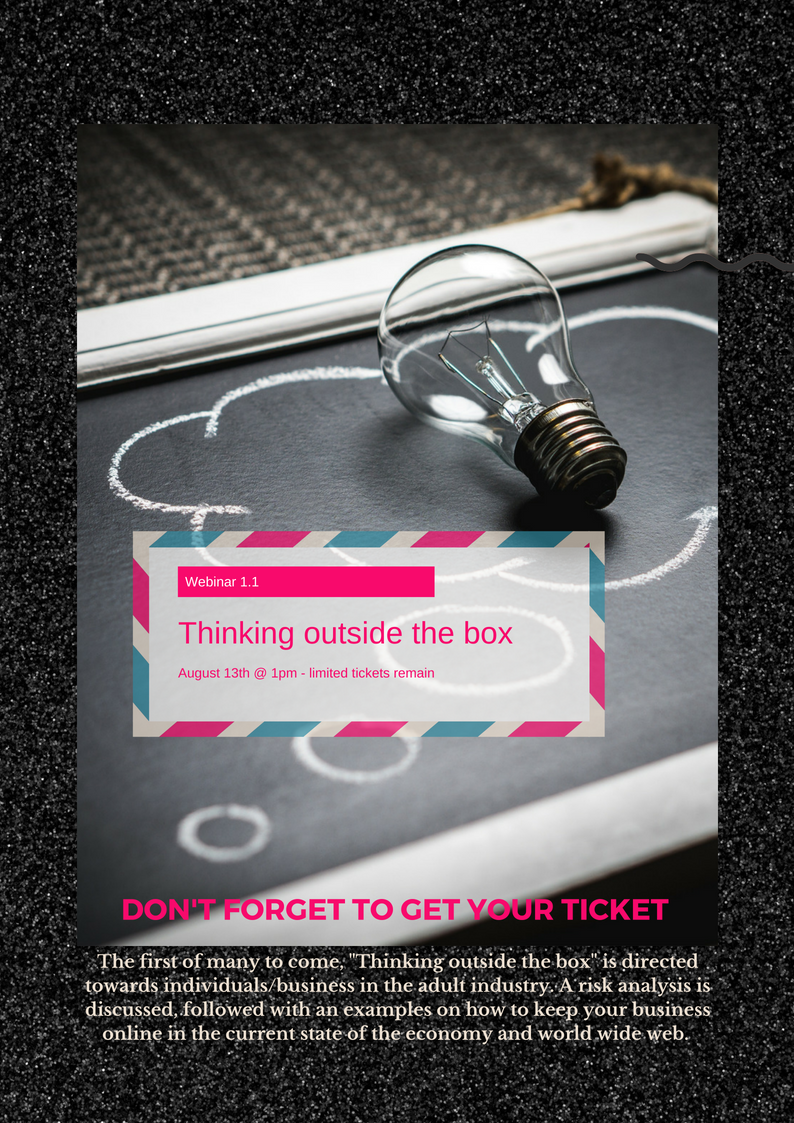 Tickets are on sale via the Eventbrite link below....   https://www.eventbrite.com.au/e/webinar-thinking-outside-the-box-tickets-48244119460?utm-medium=discovery&utm-campaign=social&utm-content=attendeeshare&aff=escb&utm-source=cp&utm-term=listing