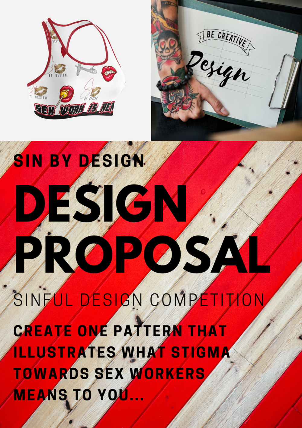 SINFUL DESIGN COMPETITION - DESIGN PROPOSAL MOCK UP SHOWING PATTERN