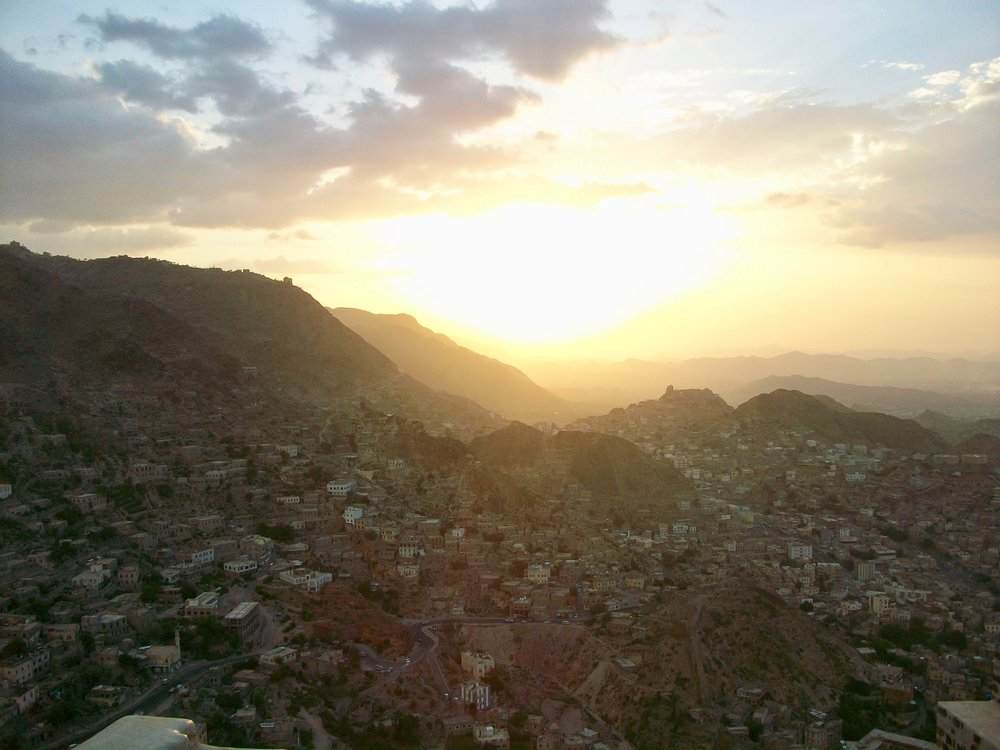 a beautiful sunrise in yemen -