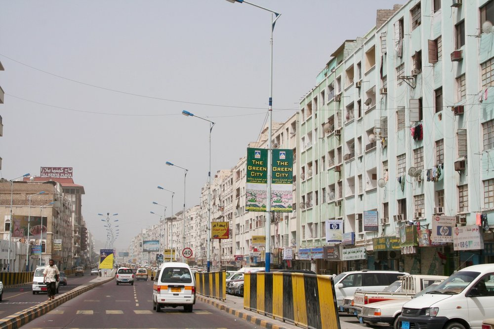 A BUSY ROADIN ADEN -