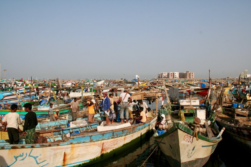 A fishing port -