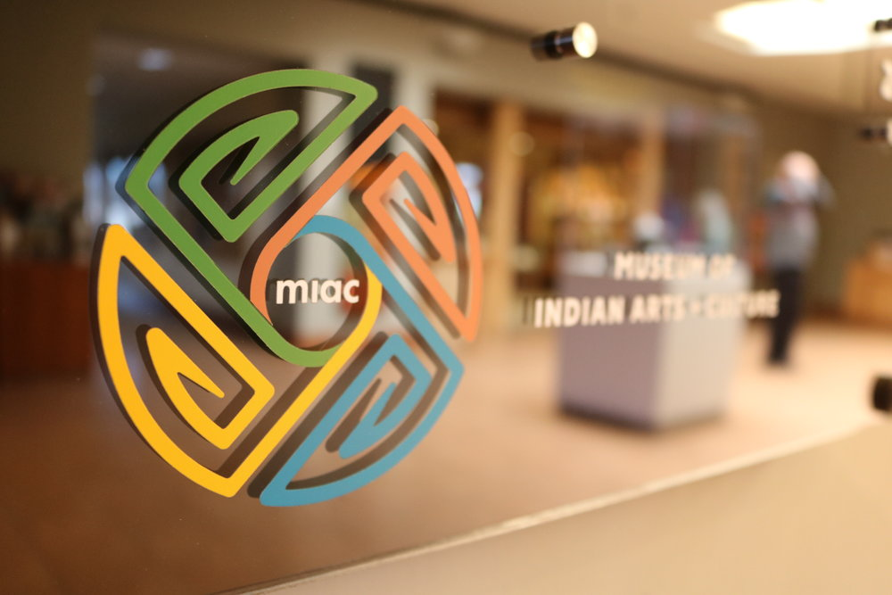 Museum of Indian Arts and Culture - Native Treasures Annual Display Board  Contact us for pricing information.
