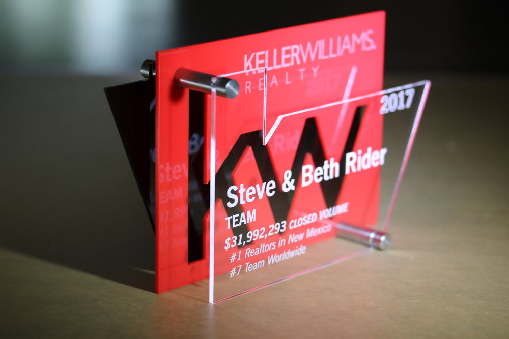 Keller Williams - Custom Award  Contact us for pricing information.