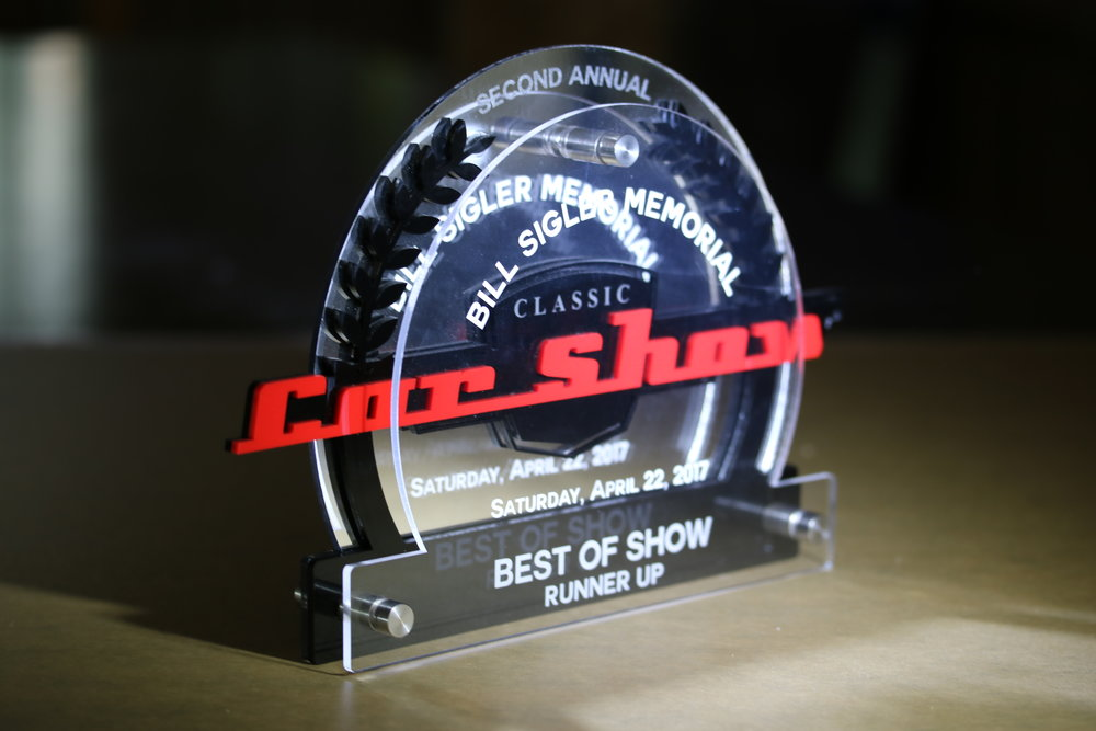 Memorial Car Show - Runner Up Award  Contact us for pricing information.