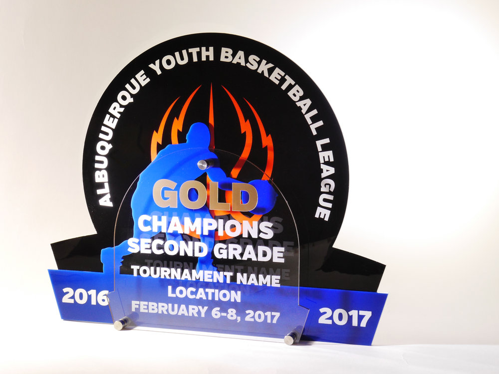Albuquerque Youth Basketball League - Custom Tournament Award  Contact us for pricing information.