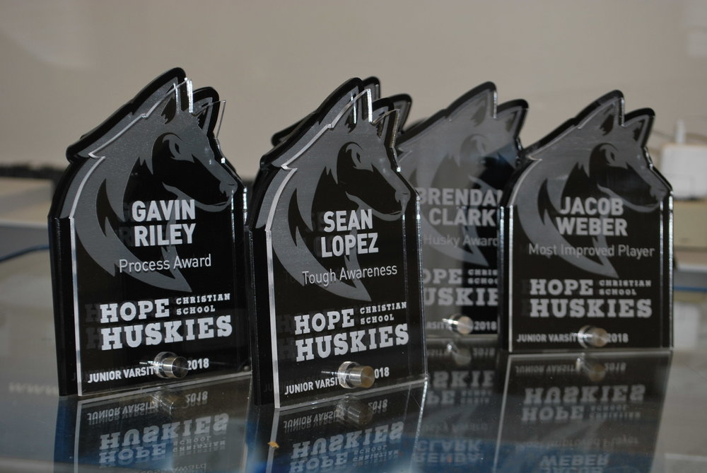 Hope Christian School - Athlete Awards  Contact us for pricing information.