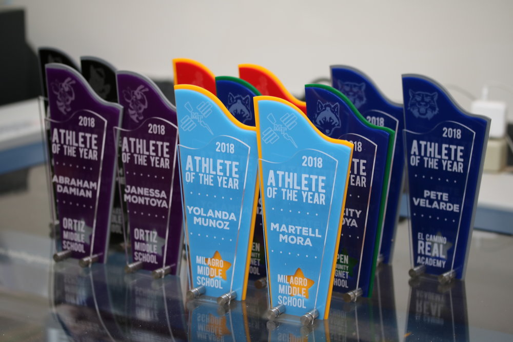 Santa Fe Public Schools, Middle School - Athlete of the Year Awards  Contact us for pricing information.
