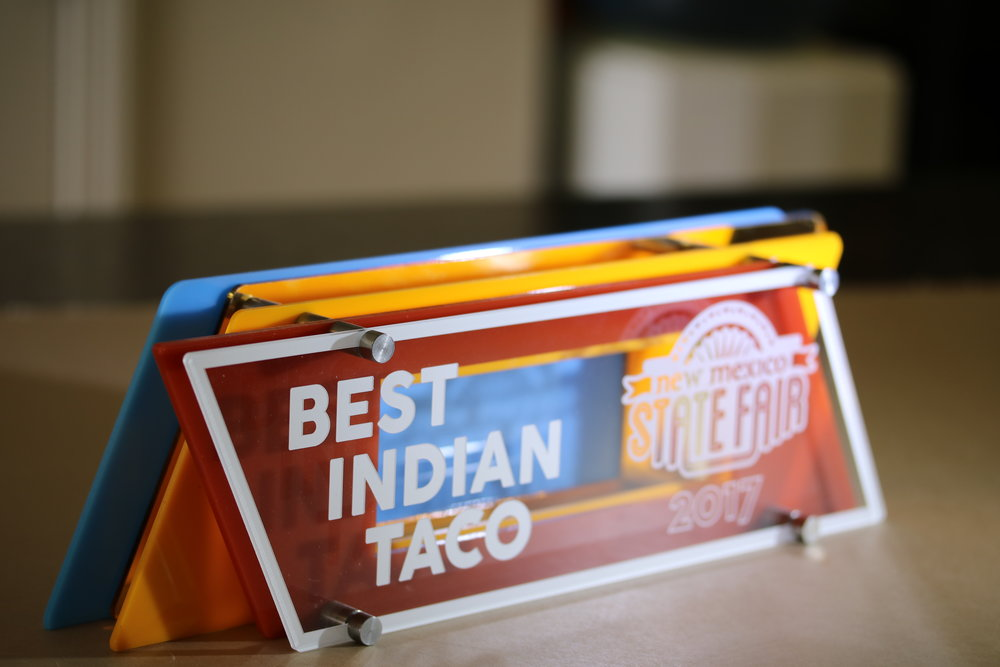 New Mexico State Fair - Best Indian Taco Award  Contact us for pricing information.
