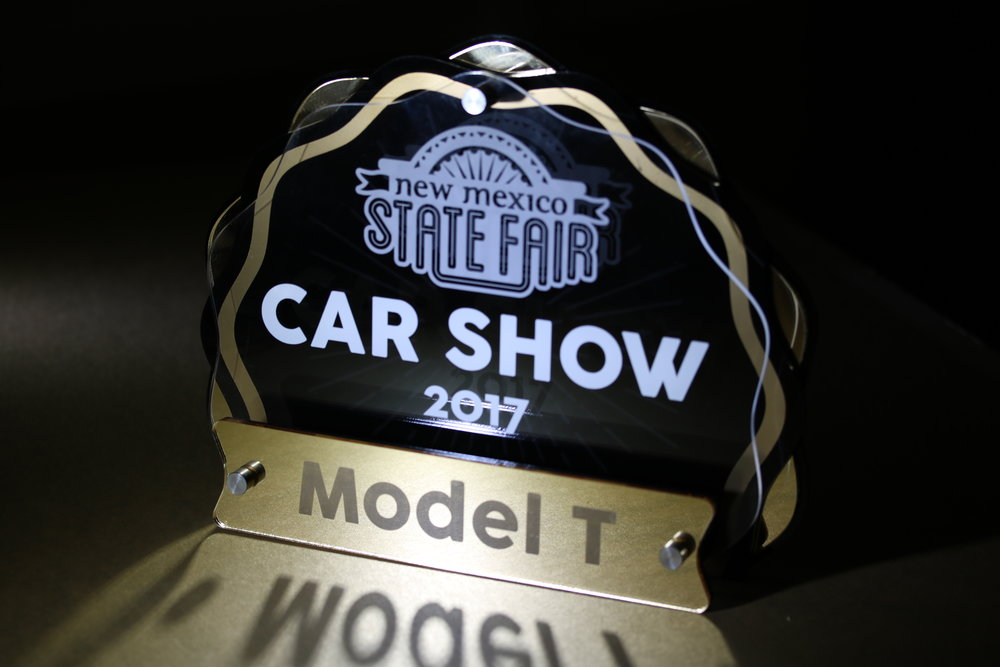 New Mexico State Fair - Car Show Award  Contact us for pricing information.