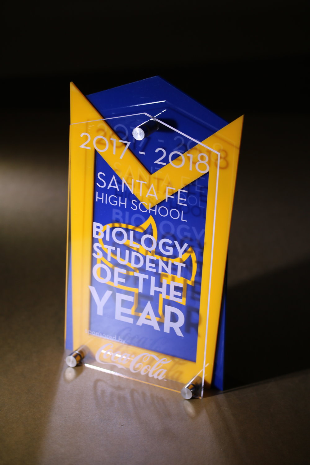 Santa Fe High School - Biology Student of the Year Award  Contact us for pricing information.