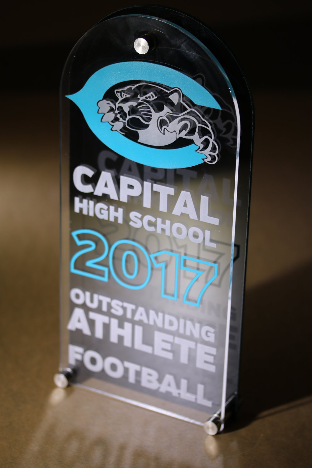 Capital High School - Outstanding Athlete Award  Contact us for pricing information.