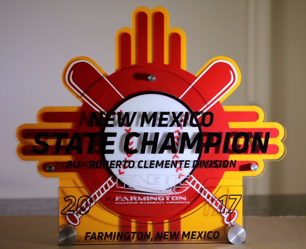 Farmington Amateur Baseball Congress - New Mexico State Champion Award  Contact us for pricing information.