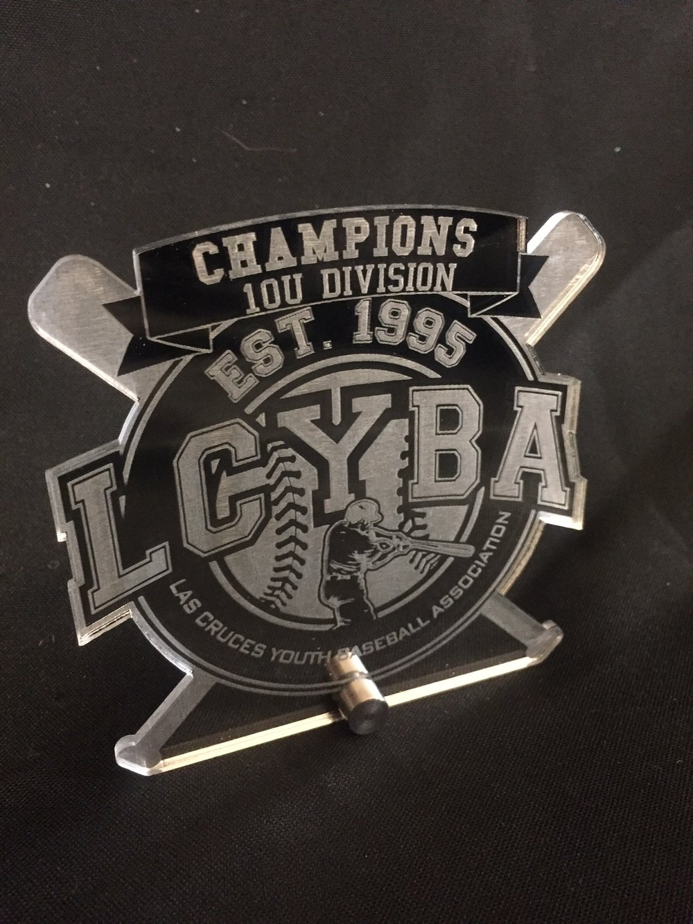 Las Cruces Youth Baseball Association - Division Champion Award  Contact us for pricing information.
