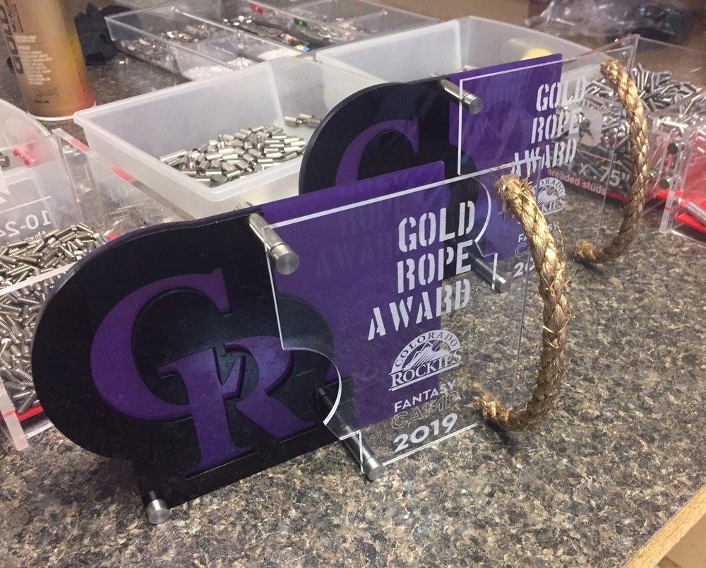 Colorado Rockies Fantasy Camp - Gold Rope Award