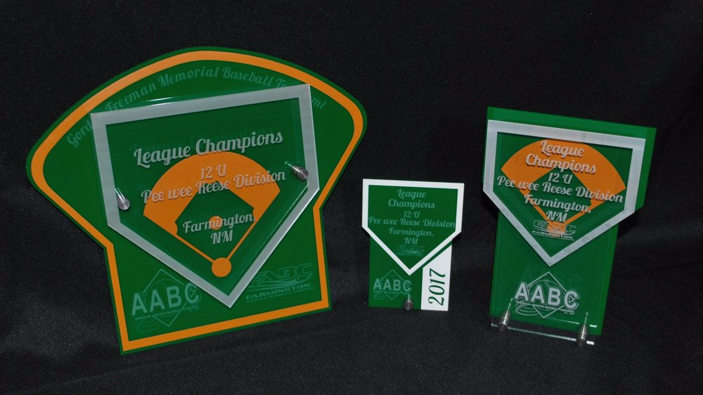 AABC - Stock Baseball Award Designs (Small, Medium, Large)  Contact us for  pricing information.