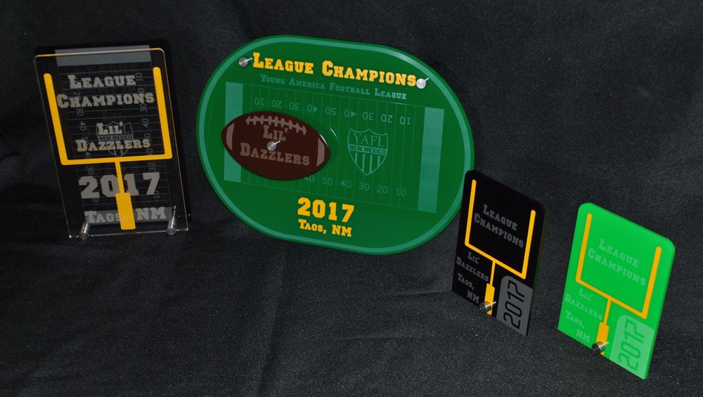Youth Football - Stock Football Award Designs (Small, Medium, Large)  Contact us for pricing information.