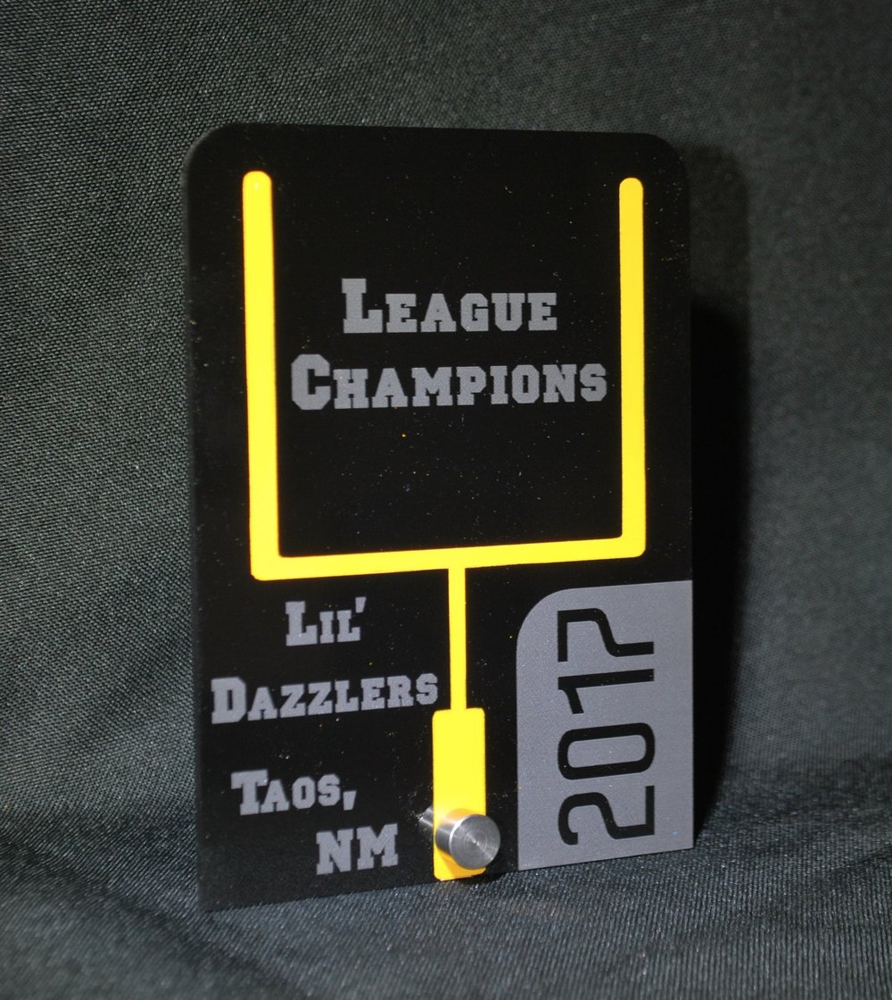 Youth Football - Stock design small size Award  Contact us for pricing information.
