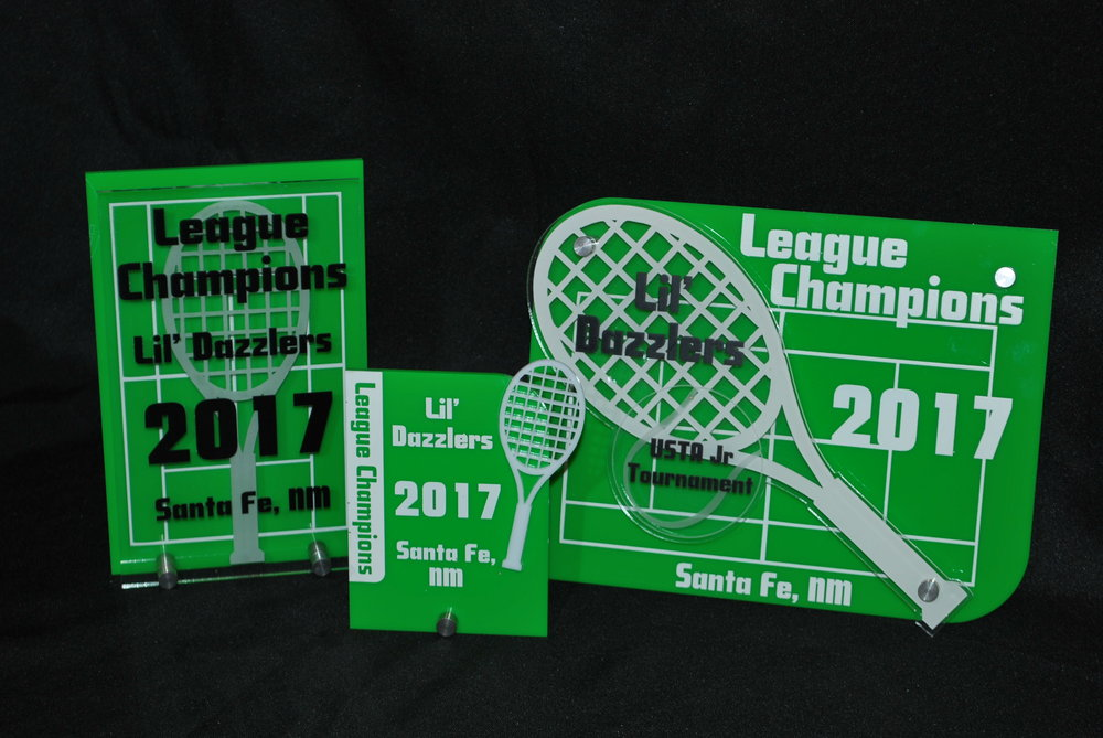Youth Tennis - Stock Tennis Award Designs (Small, Medium, Large)  Contact us for pricing information.