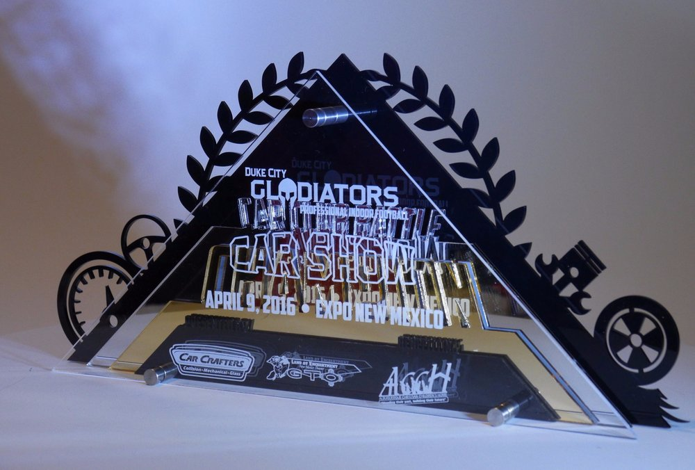 Gladiators Car Show - Category Award  Contact us for pricing information.