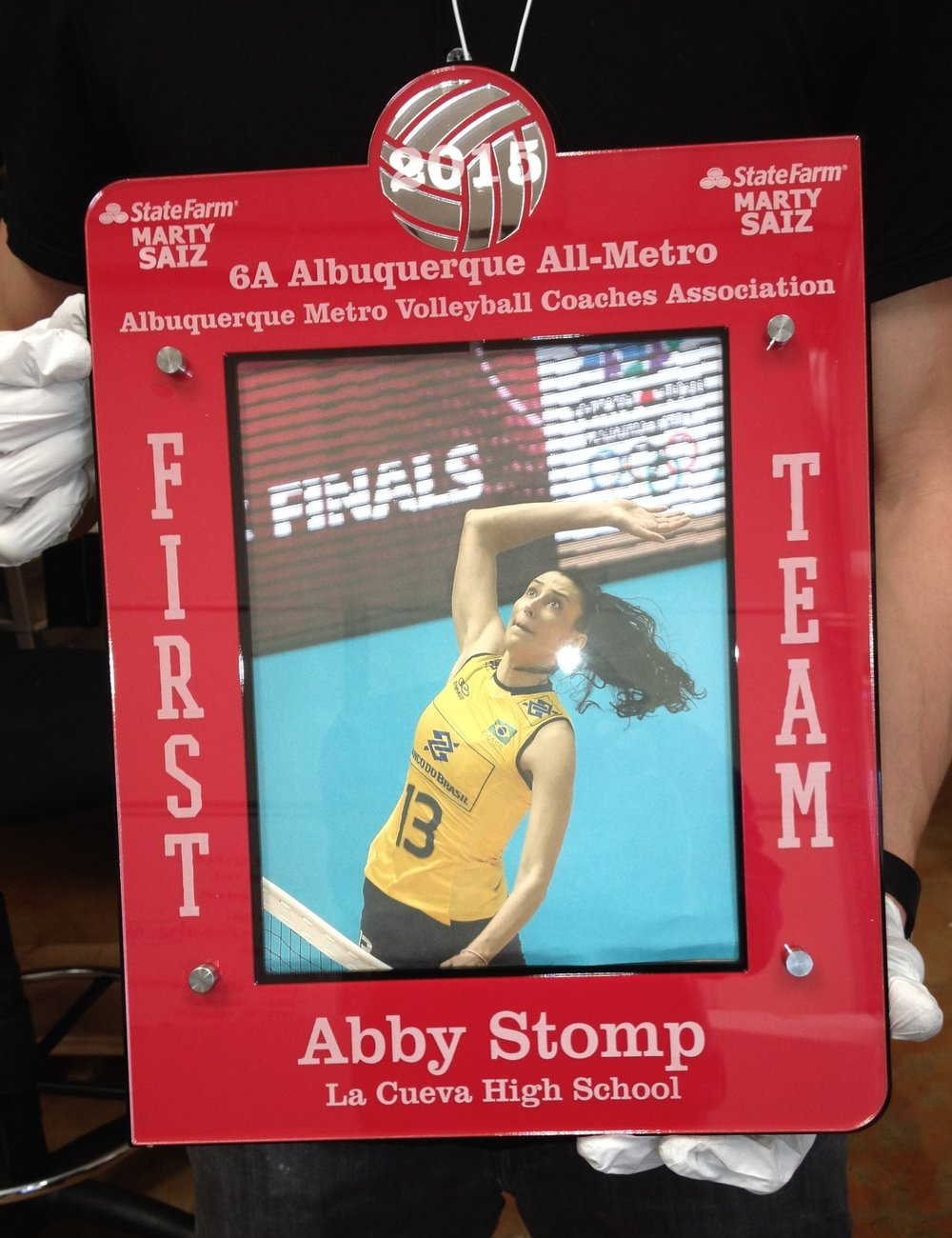 8x10 Portrait - First Team Volleyball Award  Contact us for pricing information.
