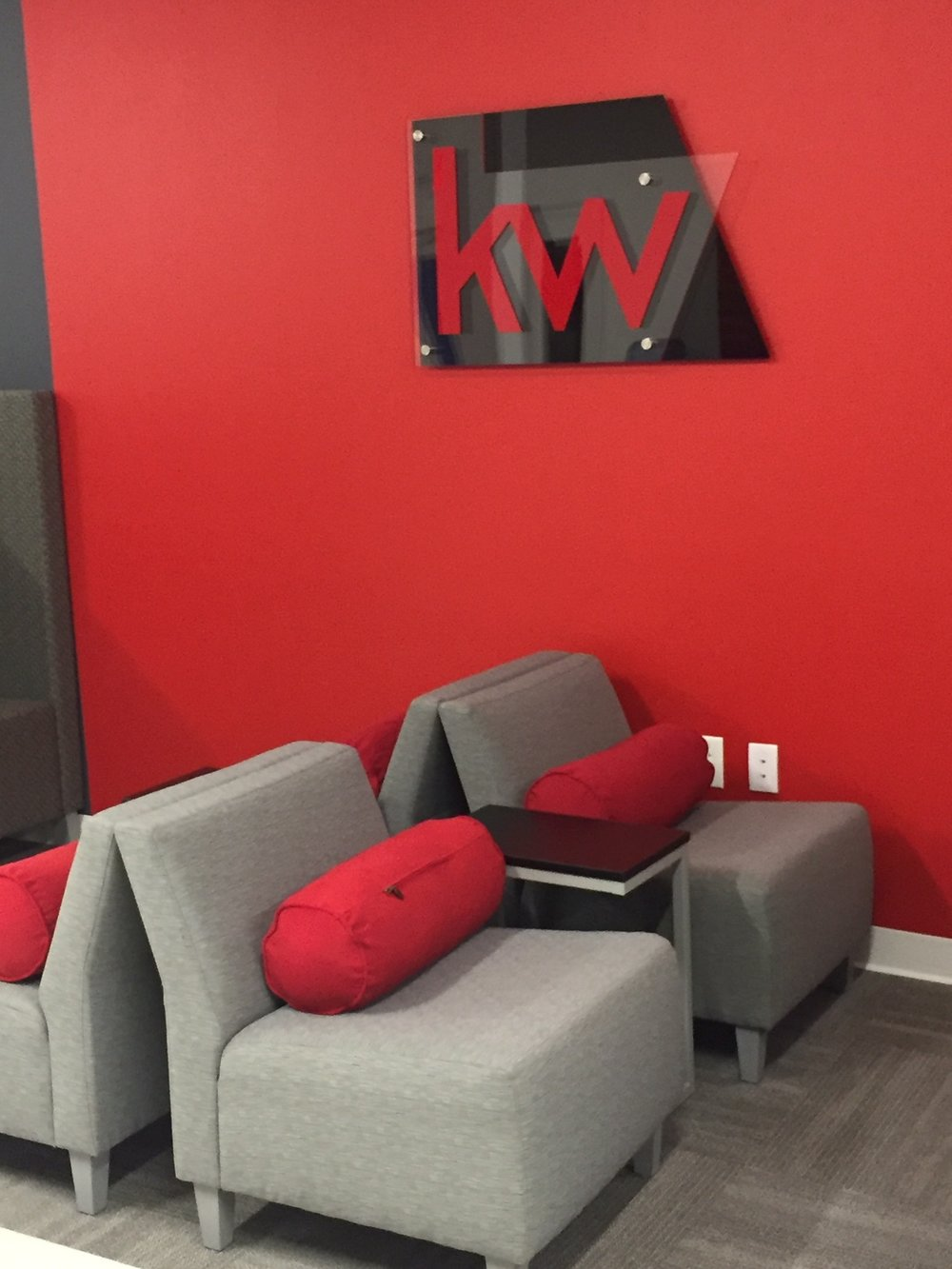 Corporate Displays - Let us use your logo to create art for your office installations.
