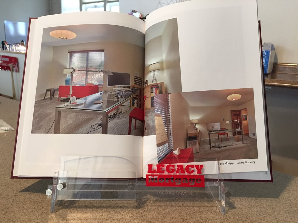 Real Estate Display Racks - Branded with your logo and name.  Standard brochure sized racks are available.  Contact us for design and pricing information.