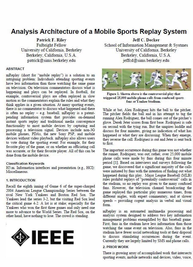 hci - media - TV - AI computer vision - Numerous scholarly publications in IEEE, ACM, Elsevier et al