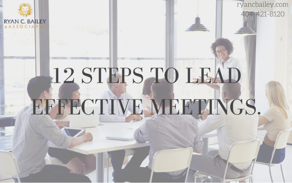 12 steps to lead effective meetings