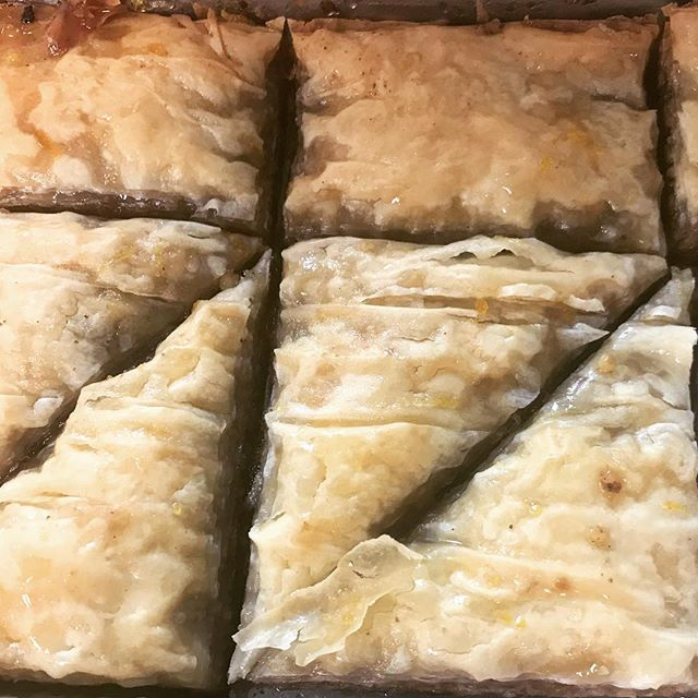 Brand spank'in new baklava hits our menu this weekend, so tasty, so balanced with flavor and texture #feedyousoonbham