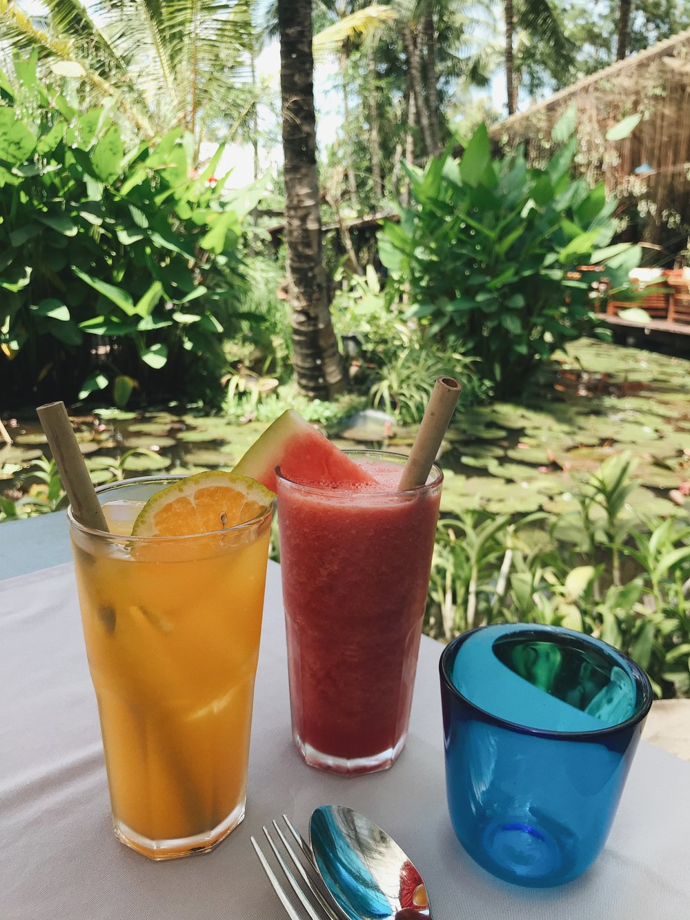 Fresh OJ and watermelon juice