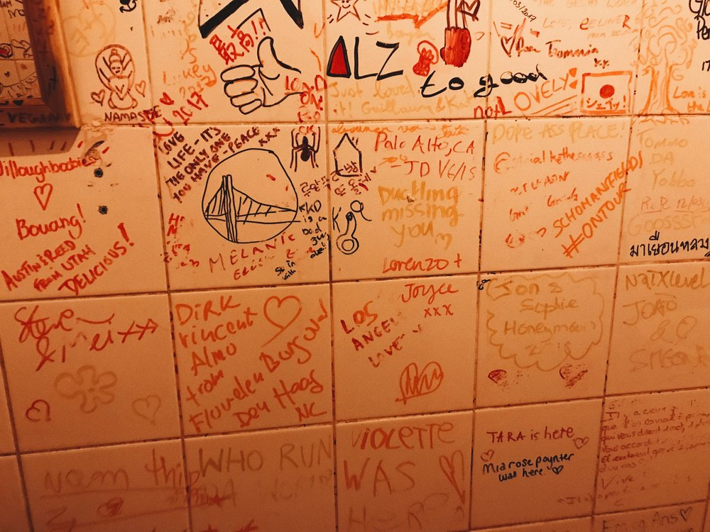 Don't forget to sign the bathroom before you leave -