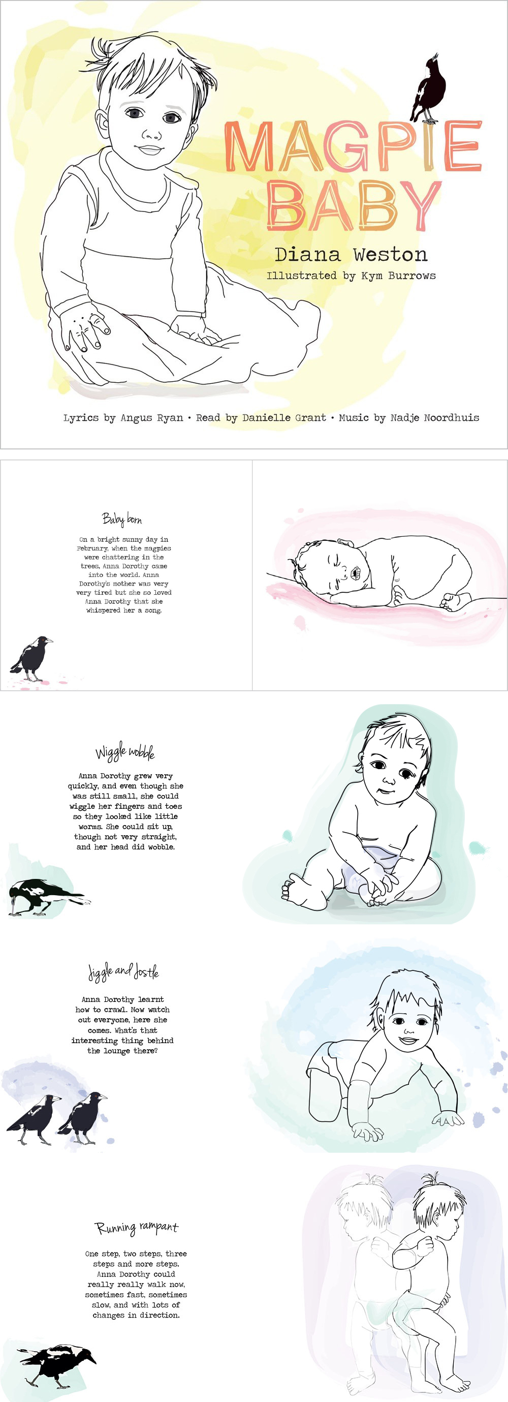 Magpie Baby - A musical storybook by Diana Weston