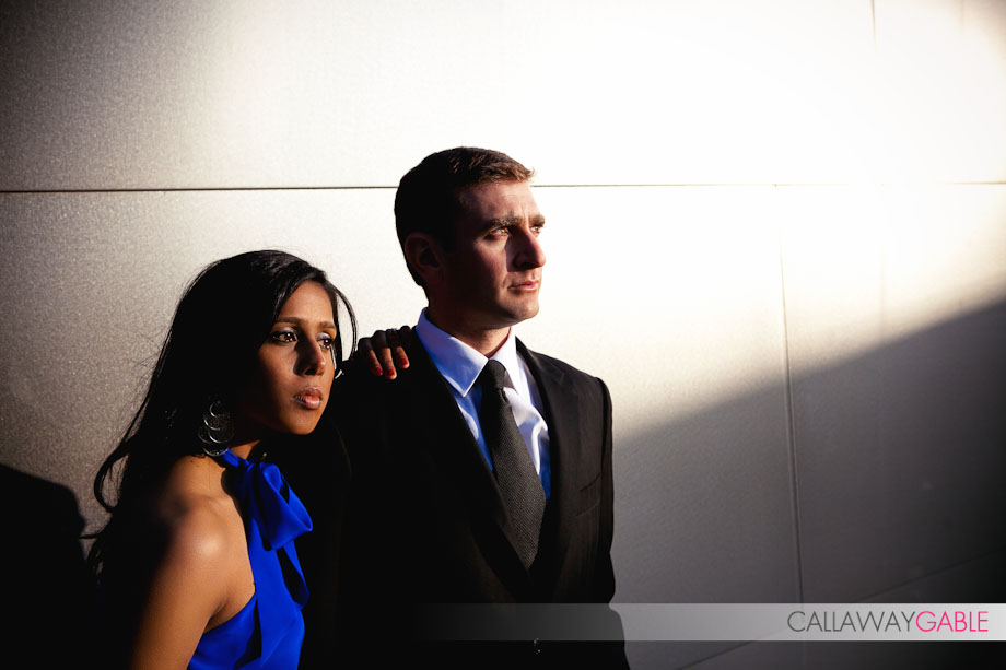 Disney Center Engagament Photos with a hint of James Bond