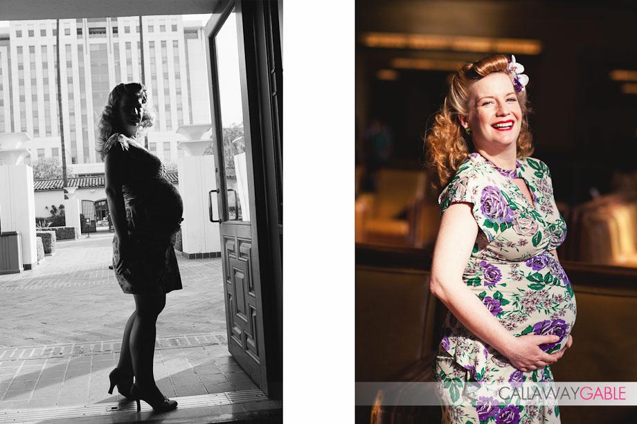 Union Station Vintage Maternity Shoot