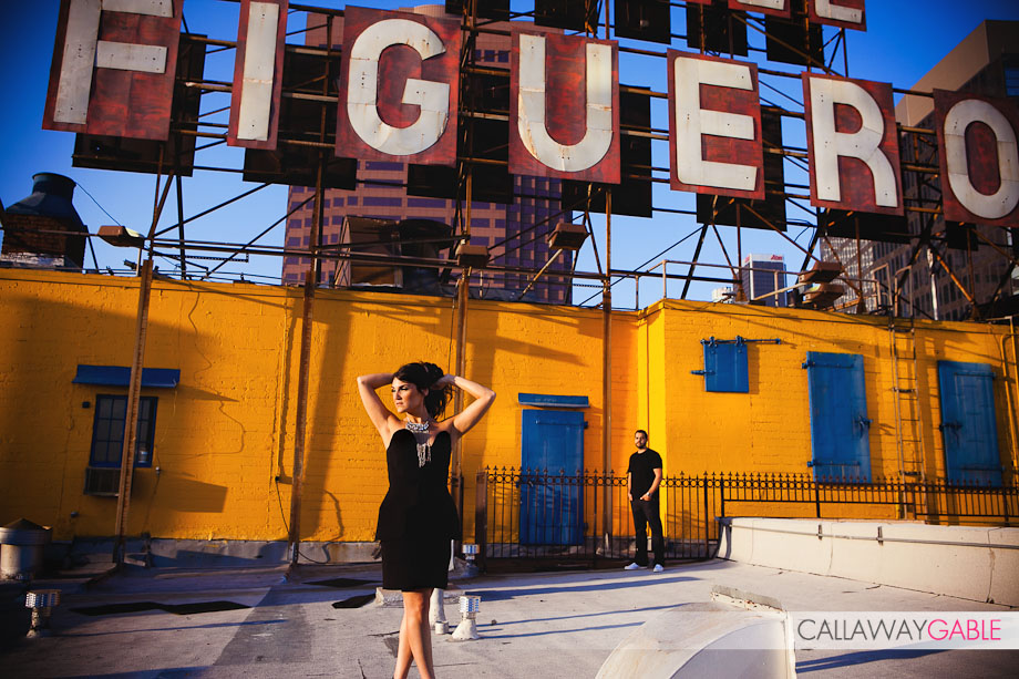 Hotel Figueroa Engagement Photo in downtown Los Angeles