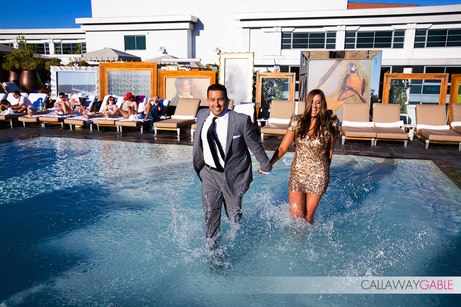 SLS Hotel at Beverly HIlls Engagement Photography