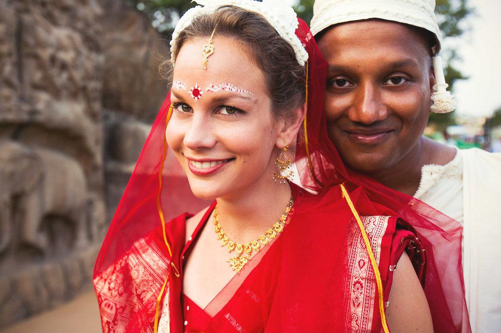 Bengali Indian wedding photographed in Mamallapuram