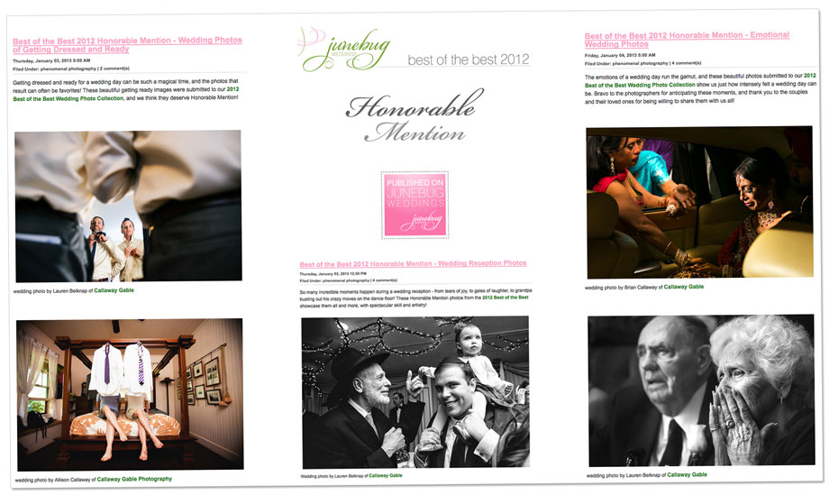 Junebug Weddings Best of the Best 2012 Honorable Mentions