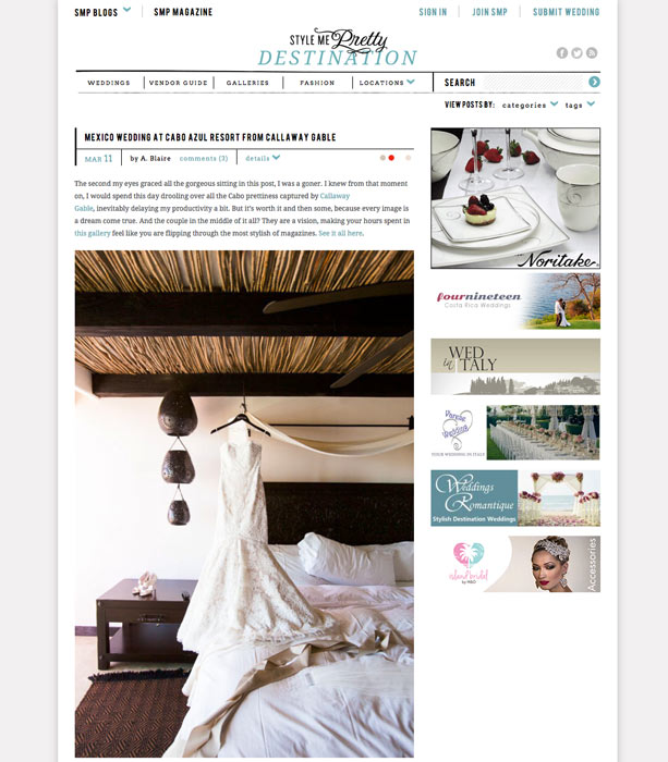 Cabo Azul Wedding in Los Cabos, Mexico, on Style Me Pretty