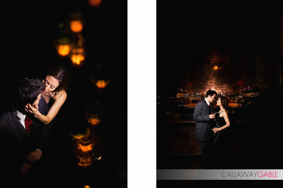 Downtown Los Angeles Engagement Photos at The Edison by Callaway Gable